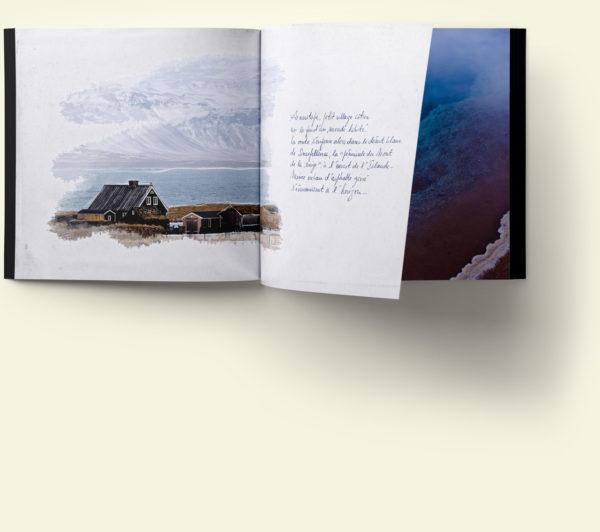 Carnet d'Islande, pages intérieures